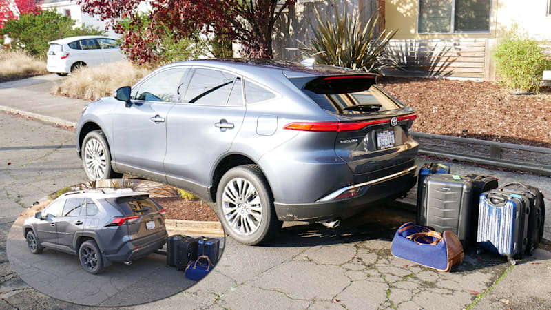2021 Toyota Venza vs Toyota RAV4 Luggage Test | Which one fits more?