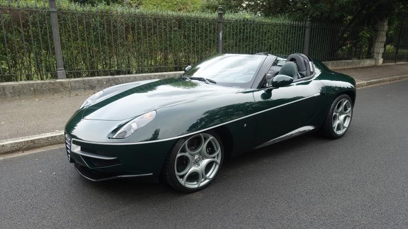 Зеленый на зеленом Alfa Romeo 8C Disco Volante Spyder выставлен на продажу