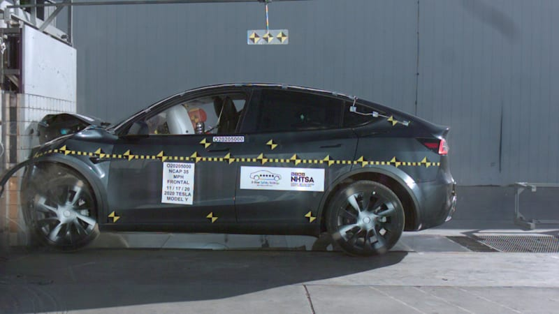 Tesla Model Y earns 5-star score in NHTSA crash tests