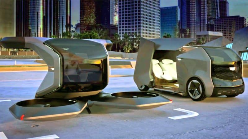 Cadillac раскрывает причудливые концепции беспилотников и беспилотных автомобилей