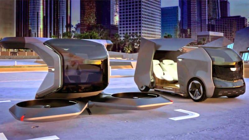 Cadillac reveals fanciful drone and autonomous car concepts