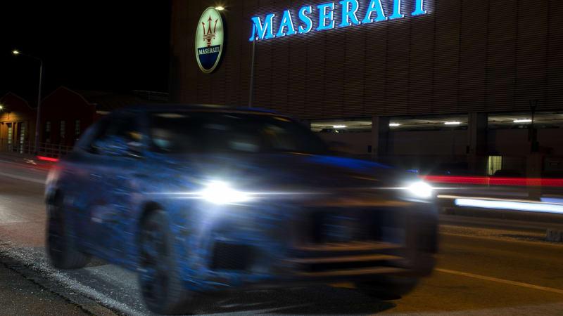Maserati опубликовала официальные шпионские снимки прототипа Grecale 2022 года