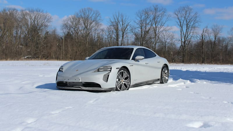 photo of 2021 Porsche Taycan First Drive | Mmm, electric snow donuts image