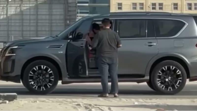Nissan Patrol (он же Armada) Nismo пойман во время рекламных съемок
