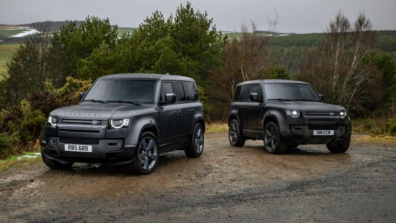 Land Rover Defender 2022 года предлагает V8, новые варианты отделки салона