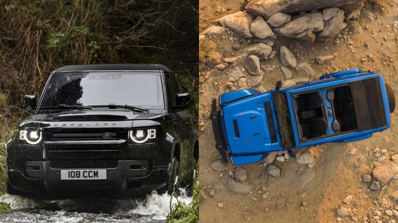 Land Rover Defender V8 2022 года и Jeep Wrangler Rubicon 2021 года 392 |  Как они сравниваются на бумаге