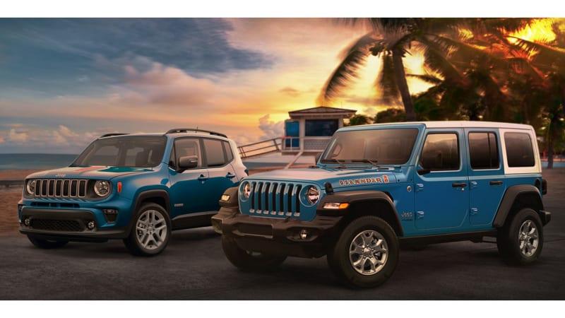Jeep Wrangler и Renegade Islander 2021 года вызывают теплую погоду и волны