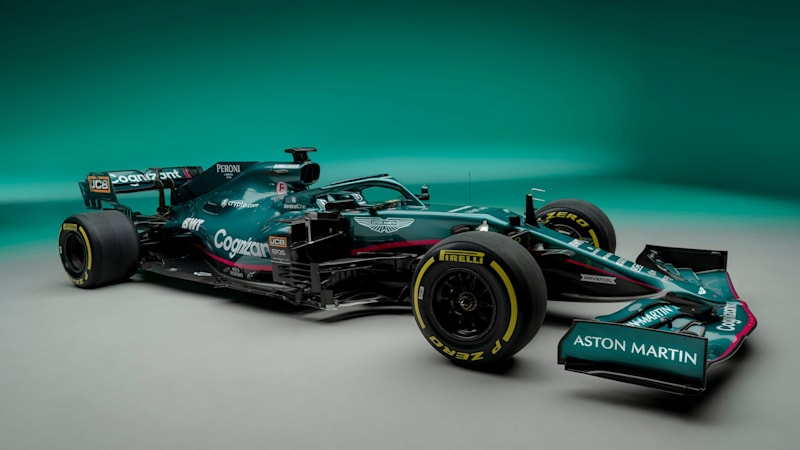 Aston Martin Debuts Its First F1 Race Car In 61 Years Green Is For Go Autoblog