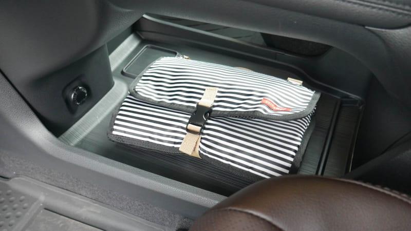 2021 Toyota Sienna interior storage under console with bag