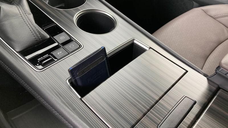 2021 Toyota Sienna interior storage center console thin bin