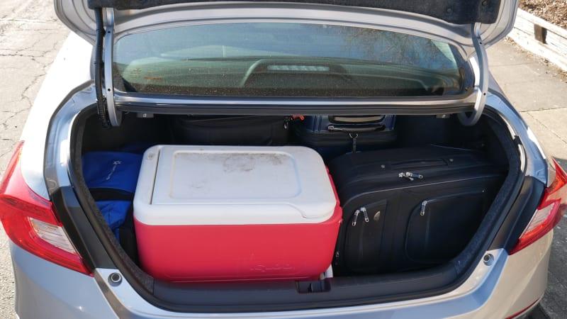 2021 Honda Accord Hybrid trunk fully loaded