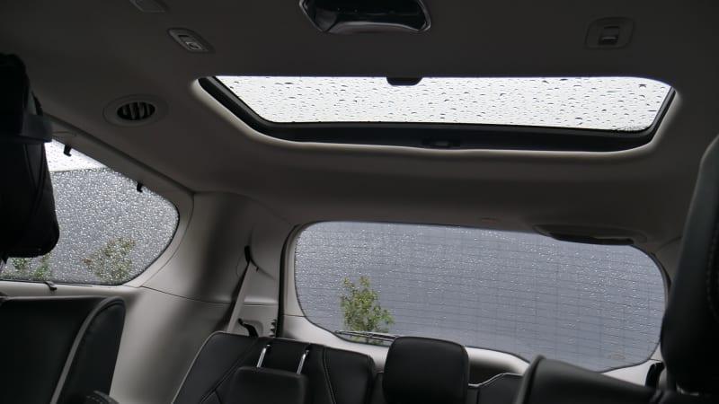 2021 Toyota Sienna Platinum interior third row skylight