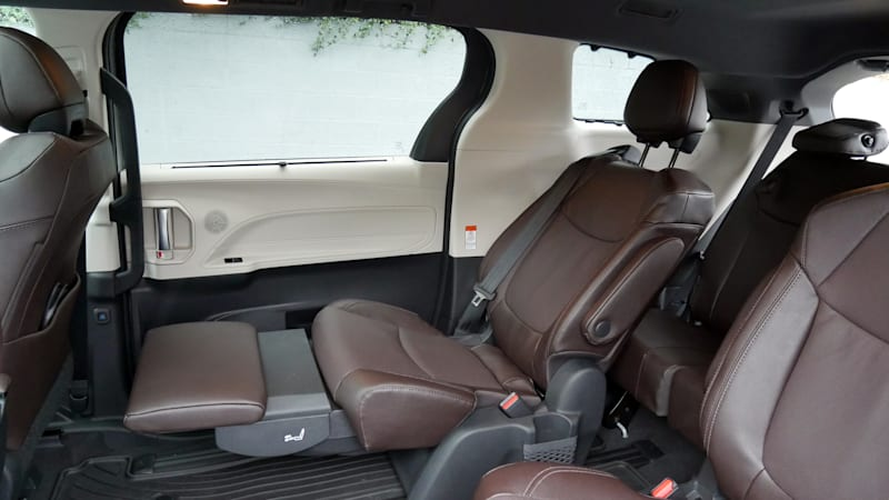 2021 Toyota Sienna interior second row recliner and ottoman