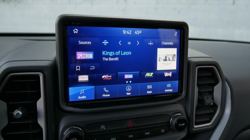 2021 Ford Bronco Sport Sync3 audio dark
