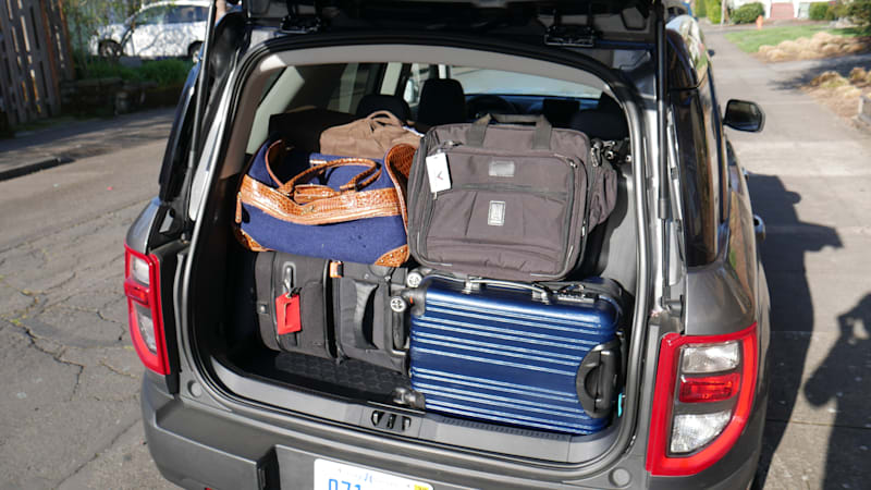 2021 Ford Bronco Sport luggage test max capacity