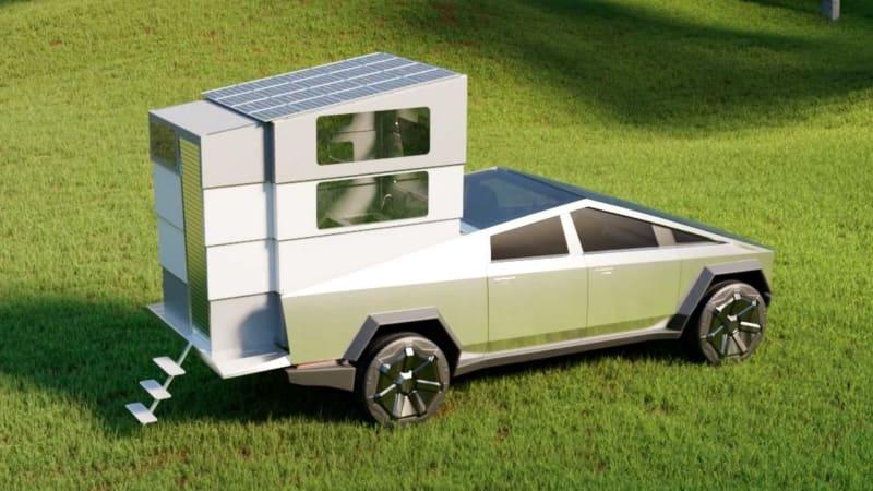 Cyberlandr is a pickup camper for the Tesla Cybertruck