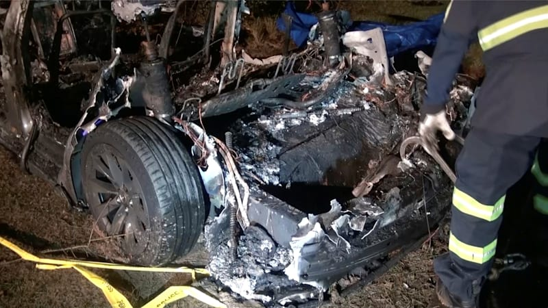 Tesla crash victims said they were leaving to test its automated driving
