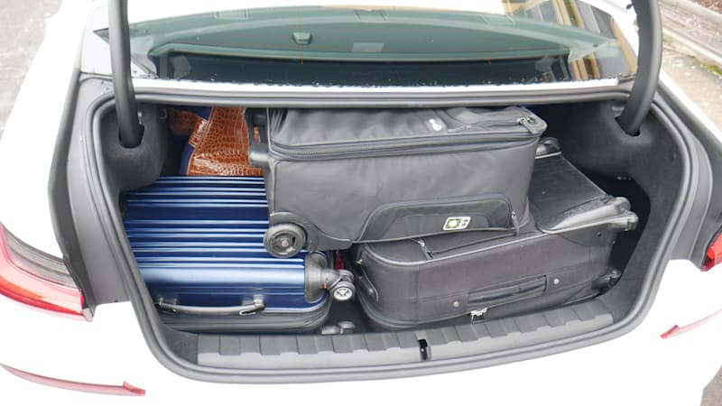 BMW 330e luggage test all bags