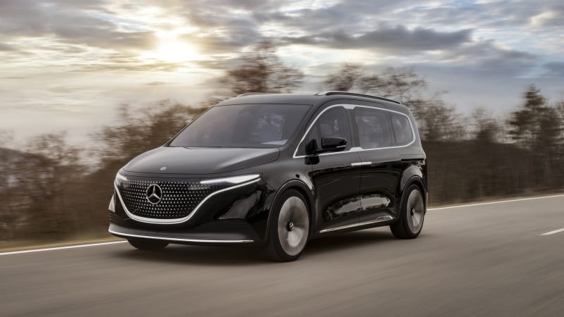 Mercedes-Benz Concept EQT is a pretty all-electric and luxurious minivan