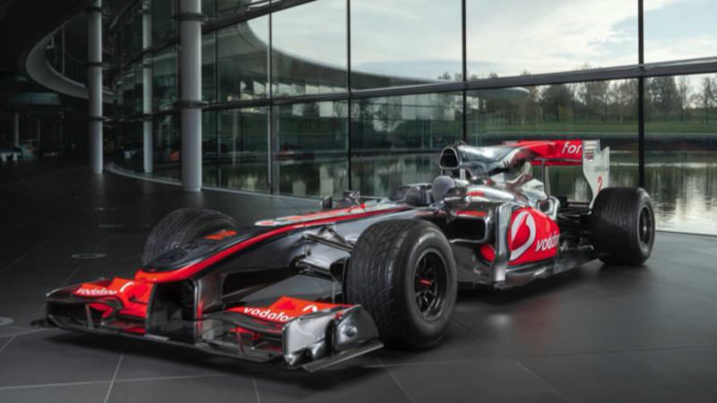 Lewis Hamilton's 2010 McLaren Mercedes F1 car going up for auction