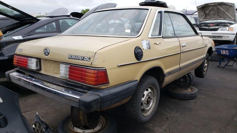 48 1984 Subaru DL Coupe in Colorado junkyard photo by Murilee Martin