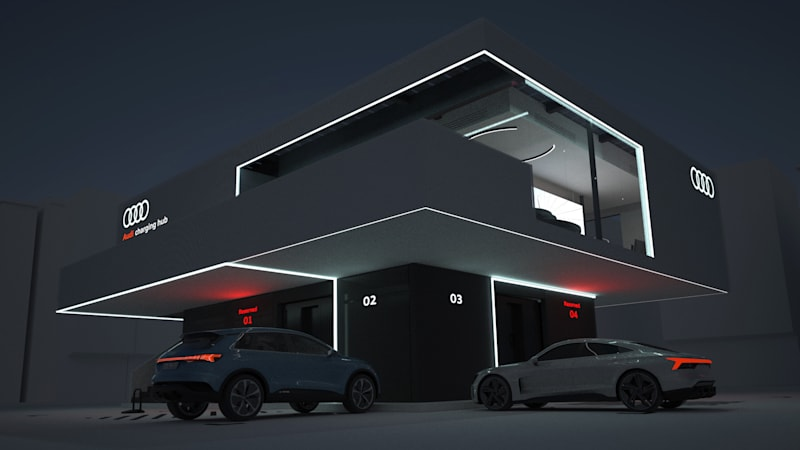 Audi shows us its concept for luxurious charging lounges of the future