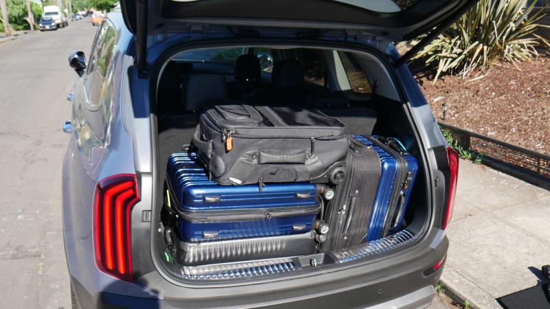 2021 Kia Telluride Luggage Test floor removed max load