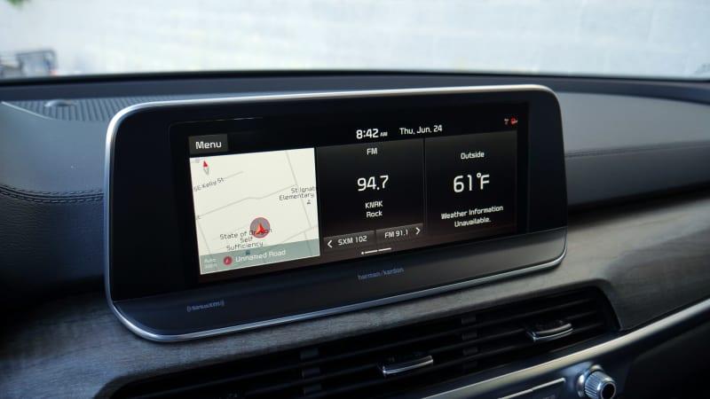 2021 Kia Telluride touchscreen home screen