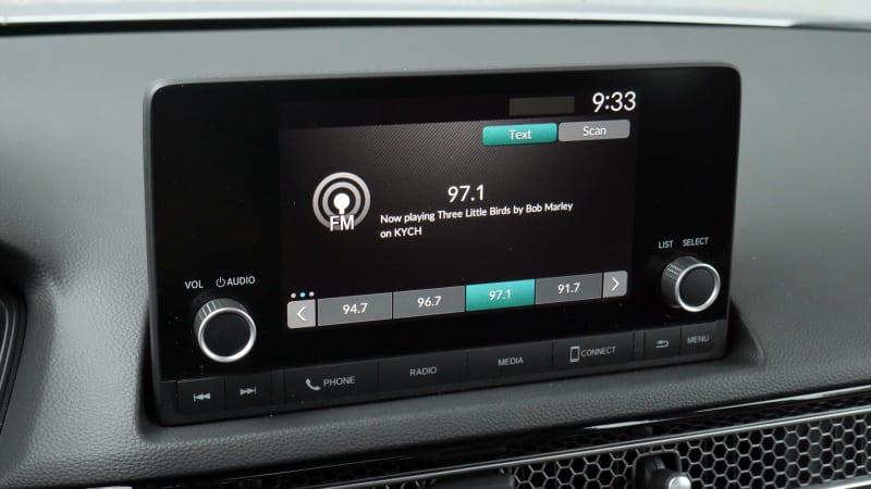 2022 Honda Civic Sport touchscreen radio