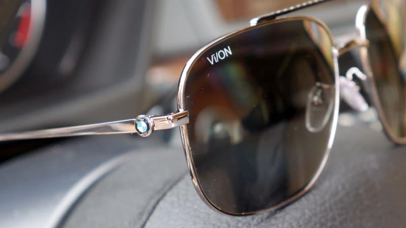 BMW sunglasses detail