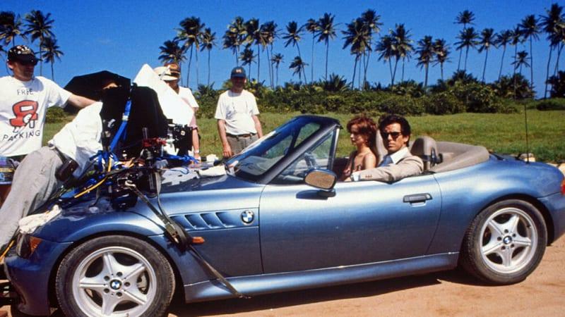GoldenEye BMW Z3 with Pierce Brosnan during filming