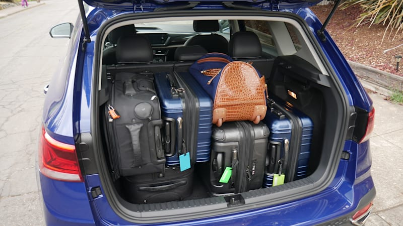 2022 VW Taos Luggage Test all bags tetris 1