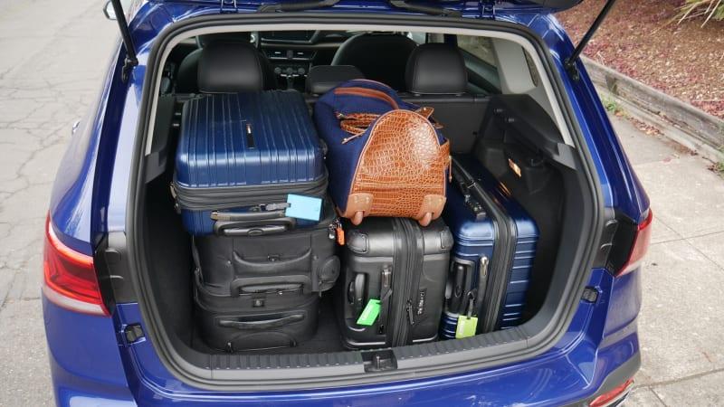 2022 VW Taos Luggage Test all bags tetris 2
