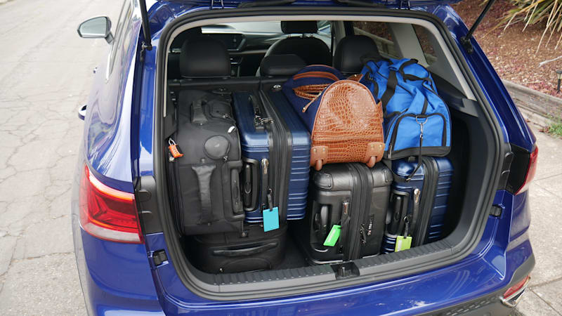 2022 VW Taos Luggage Test almost loaded