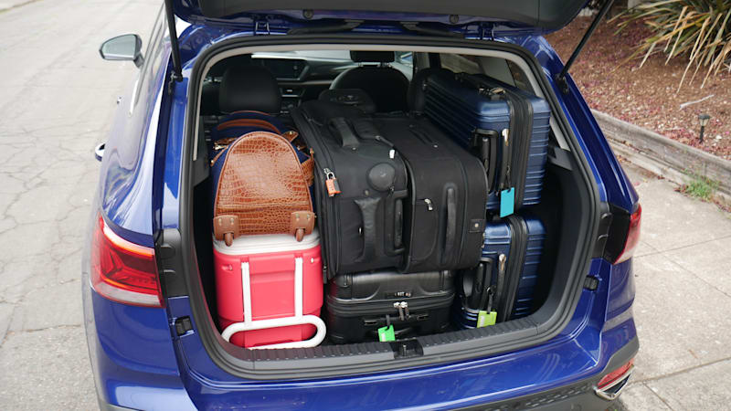 2022 VW Taos Luggage Test fully loaded