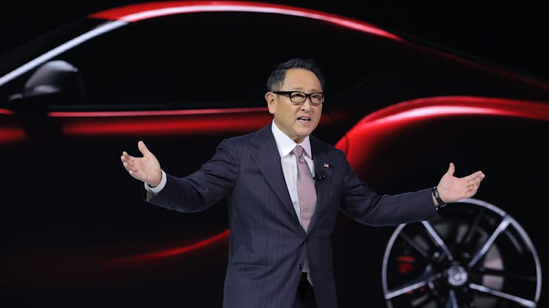 Toyota's Akio Toyoda criticized for questioning combustion car ban