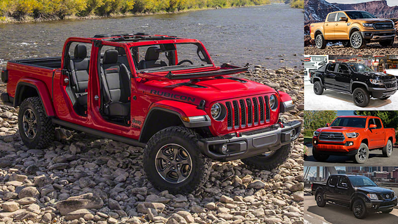 Comparison 2020 Jeep Gladiator Vs 2019 Ford Ranger Chevy Colorado