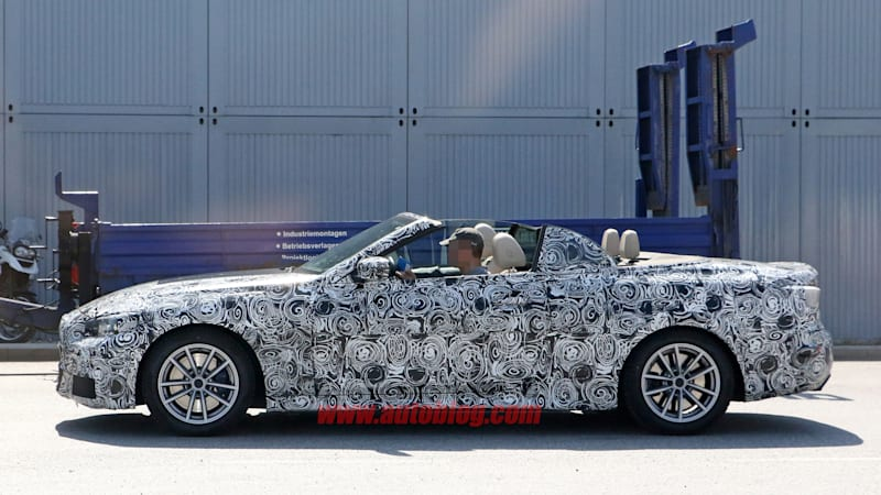 2020 Bmw 4 Series Convertible Spied With Top Down Autoblog