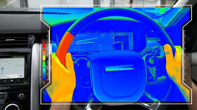 Jaguar Land Rover's unveils sensory steering wheel concept