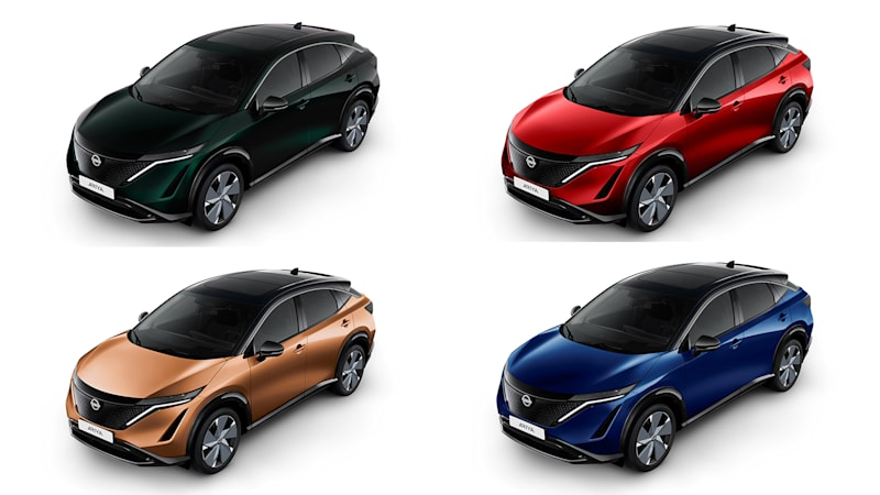 2022 Nissan Ariya will come in real colors, plus some shades of grey