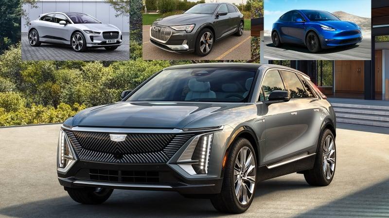 2023 Cadillac Lyriq vs Tesla Model Y, Audi E-Tron, Jaguar I-Pace | Specs compared
