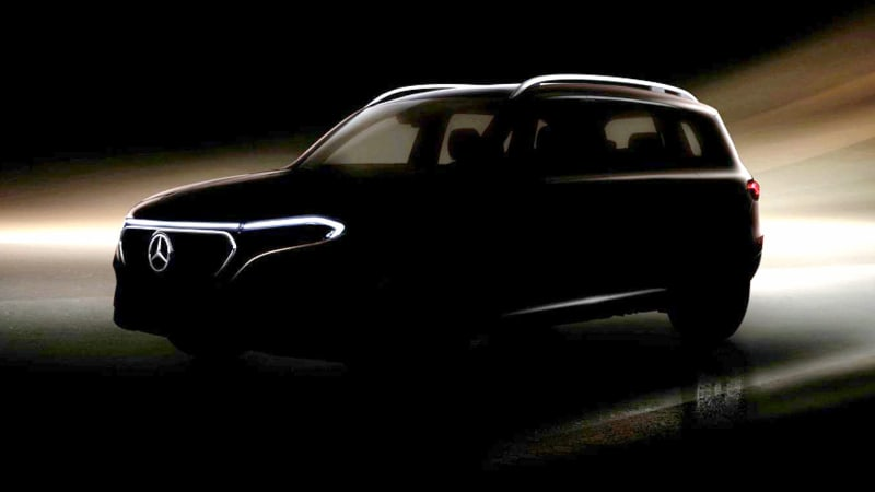 Mercedes-Benz EQB teased, will be revealed at Shanghai Auto Show