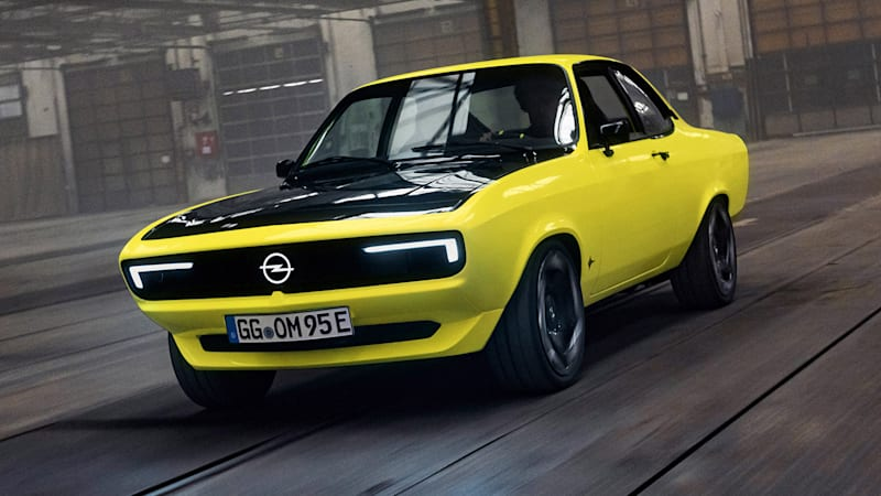 Opel Manta GSe ElektroMOD is manual, rear-drive, electric, awesome