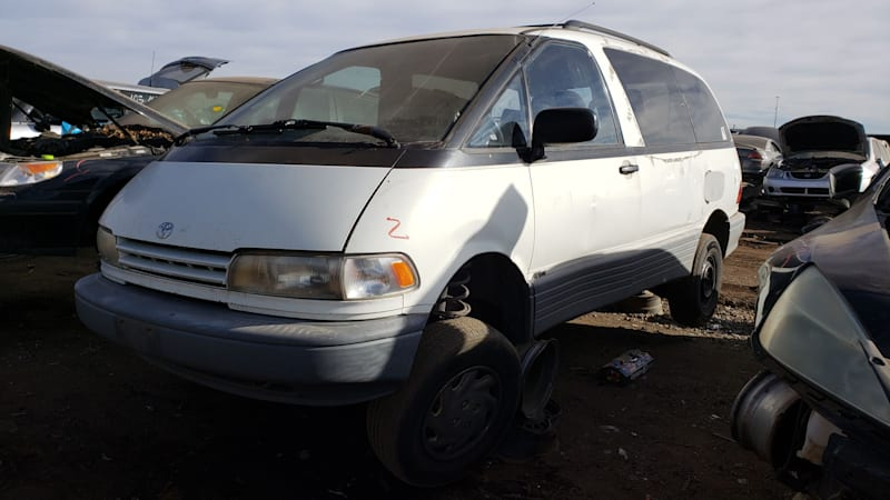 Junkyard Gem 1992 Toyota Previa All Trac With 5 Speed Manual Transmission Today News Post