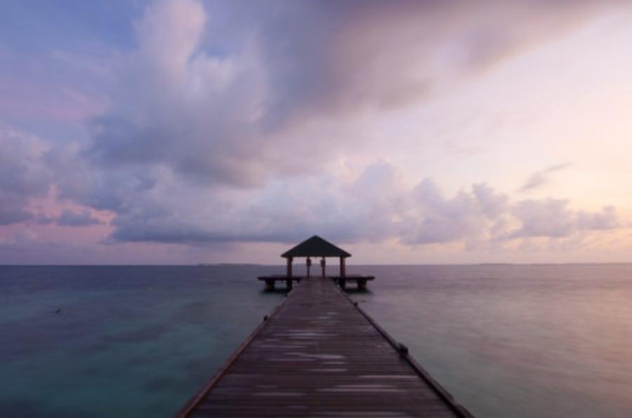 Dawn In The Maldives