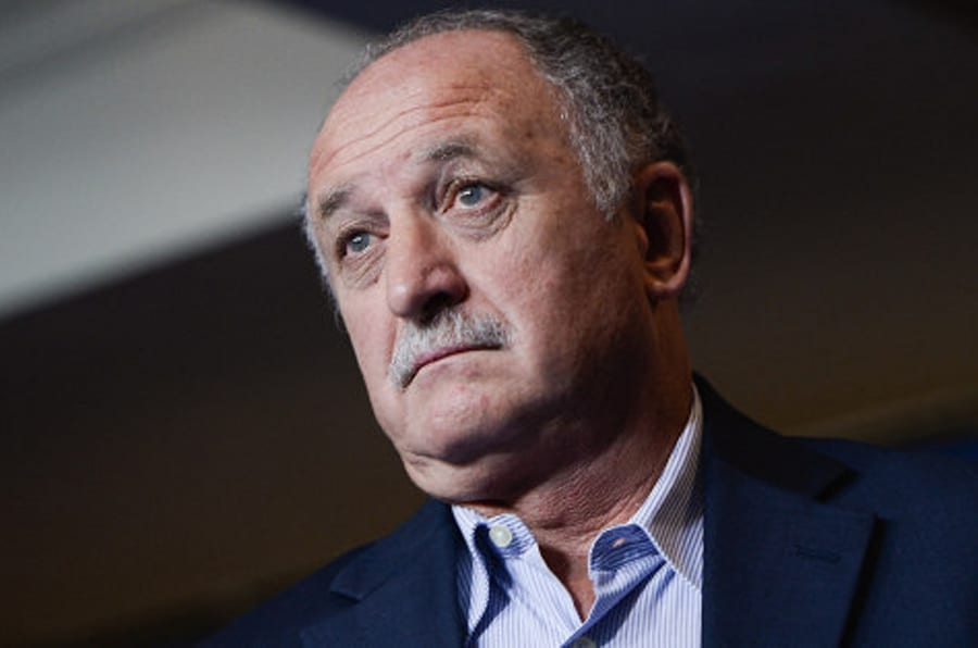 RIO DE JANEIRO, BRAZIL - OCTOBER 31: Brazilian football team coach Luiz Felipe Scolari attends a press conference ahead of the international friendly match against Honduras and Chile at Sheraton Hotel on October 31, 2013 in Rio de Janeiro, Brazil. (Photo by Buda Mendes/Getty Images)
