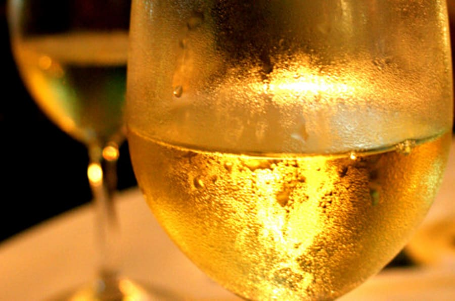 good company and a glass of white wine goes a long way.