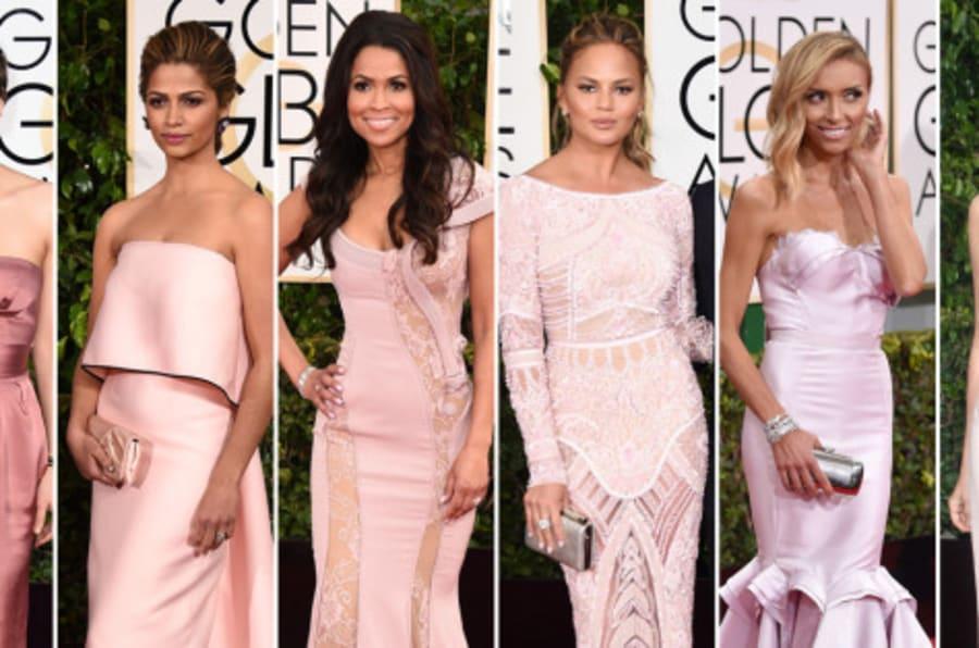 El pantone de los Globos de Oro 2015: los vestidos de la gala ...