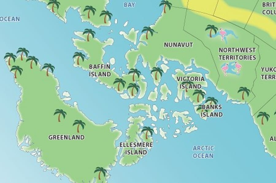 This Upside-Down Canada Map Looks Like A Tropical Paradise ...