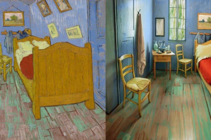 El dormitorio en arlés de van gogh es real y se puede